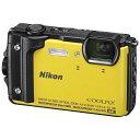 【送料無料】NIKON COOLPIX W300 YW イエロー コンパクトデジタルカメラ(1605万画素)