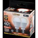 アイリスオーヤマ LDA4L-G-E17-4T52P ECOHiLUX [LED電球 (E17口金・40W相当・440lm・電球色) 2個]