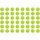 GP (ジーピー) 野球バッティングトレーニングボール 穴あき PE素材 蛍光緑 72mm 48個入り (35359)