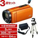 【送料無料】JVC (ビクター) GZ-RX670-D (64GBビデオカメラ) + KA-1100
