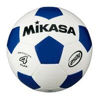 MIKASA SVC403-WB [サッカー4号(小学校) 軽量球 約250g 白/青]の画像