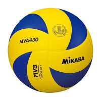 MIKASA MVA430 [バレー4号(中学・家庭婦人) 練習球 黄/青]の画像