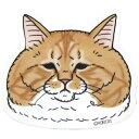 シナダグローバル YNDM-0120G [世にも不思議な猫世界 ダイカットミラー ぐっぴーさん]