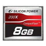 高画素数カメラの高速連写に対応、一瞬のシャッターチャンスを逃しません。200倍速大容量プロフェッショナルCFカード。 (8GB)Silicon Power SP008GBCFC200V10