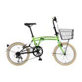 【送料無料】DOPPELGANGER M6 GREEN [折りたたみ自転車 20インチ 7段変速 グリーン]【同梱配送不可】【代引き不可】【沖縄・離島配送不可】