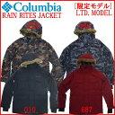14-15 COLUMBIA ウェア [PM5295] 【RAIN RITES JACKET】レインライツジャケット スノーボードウェア 限定モデル リミテッドモデル 別注【スノボウェア】