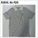 RUEHL No. 925 メンズ 半袖 ポロシャツ ホワイト グレー (ルール ナンバー925) アバクロ (abercrombie) 姉妹ブランド アメカジ (アメリカン カジュアル) POLO SHIRT