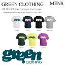 GREENCLOTHING Tシャツ LOGO メンズ 【グリーンクロージング】 【ティーシャツ】 TEEシャツ 半袖 ショートスリーブ 2015