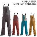 18-19 AIRBLASTER エアーブラスター STRETCH KRILL BIB PANTS ビブパンツ スノーボードウェア SNOWBOARD エアブラスター align=