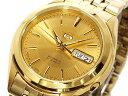 SEIKO 5 セイコー 5 自動巻き 日本製 メンズ 腕時計 SNKL28J1 ゴールド メタルベルト