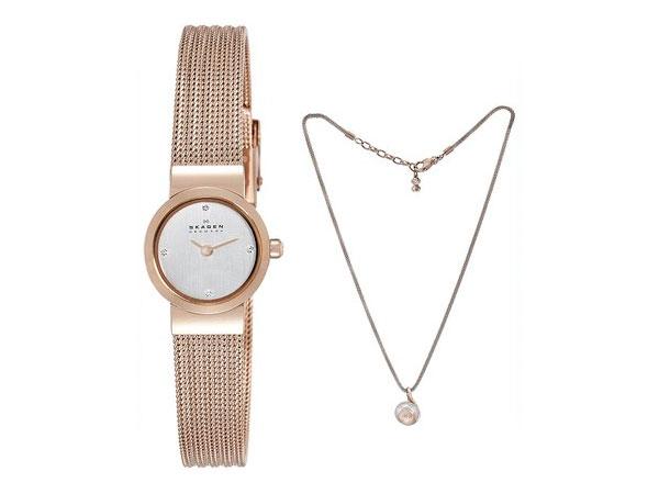 スカーゲン SKAGEN レディース 腕時計 ネックレス ギフトボックス セット SKW1067 送料無料/SKAGEN スカーゲン 時計 腕時計 ウォッチ