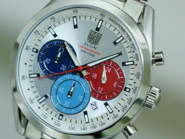 エルジン ELGIN 腕時計 クロノグラフ メンズ FK1411S-S ベルト調整工具無料/送料無料/ELGIN エルジン 時計 腕時計 ウォ☆メンズ 腕時計 ビジネス☆