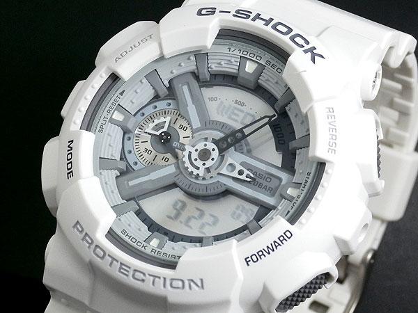 カシオ CASIO Gショック G-SHOCK アナデジ 腕時計 ハイパーカラーズ GA-110C-7A メンズ ホワイト ラバー 送料無料/G-SHOCK ジーショック 時計 腕時計 ウォッチ