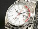 SEIKO 5 セイコー5 逆輸入 日本製 自動巻き メンズ 腕時計 SNK369J1 ホワイト×シルバー メタルベルト