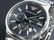 エンポリオ アルマーニ EMPORIO ARMANI 腕時計 AR2434 メンズ ブラック×シルバー メタルベルト