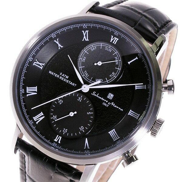 サルバトーレマーラ クロノ クオーツ メンズ 腕時計 SM16105-SSBK ブラック 送料無料/Salvatore Marra 時計 腕時計 ウォッチ【明日は元の価格を復元します】
