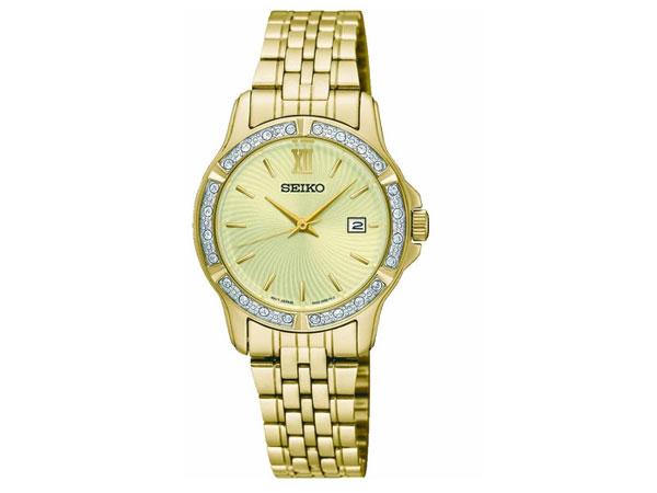 セイコー SEIKO 逆輸入 クオーツ レディース 腕時計 SUR728P1 メタルベルト ゴールド 送料無料/SEIKO シンプル 時計 腕時計 逆輸入よく売れます