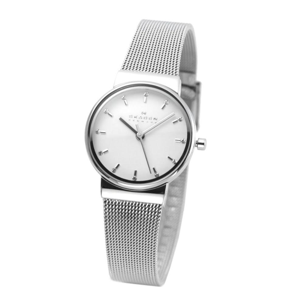 スカーゲン SKAGEN SKW2195  レディス腕時計 ラインストーンインデックス メッシュストラップ 送料無料/SKAGEN スカーゲン 時計 腕時計 ウォッチ