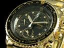 セイコー SEIKO 海外モデル 腕時計 パイロット アラーム クロノグラフ SNA414P1 メンズ ブラック×ゴールド メタルベルト