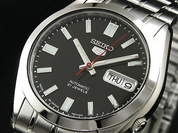 SEIKO 5 セイコー5 逆輸入 日本製 自動巻き メンズ 腕時計 SNKE87J1 メンズ ブラック×シルバー メタルベルト 送料無料/SEIKO 5 セイコーファイブ 時計 腕時計 逆輸入