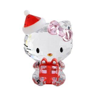 你好凱蒂施華洛世奇施華洛世奇 5058065 你好凱蒂聖誕禮物聖誕老人聖誕禮物水晶 PVC 圖雕像