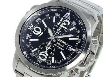 Seiko SEIKO SOLAR Chronograph Watch SSC075P1