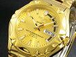 セイコー 5 SEIKO 5 SPORTS 逆輸入 日本製 自動巻き メンズ 腕時計 SNZ450J1 ゴールド メタルベルト
