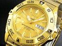 セイコー SEIKO セイコー5 スポーツ 5 SPORTS 日本製 自動巻き 腕時計 SNZB26J1 メンズ ゴールド メタルベルト