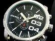 DIESEL ディーゼル Aeronautic エアロノーティック クロノグラフ 腕時計 メンズ DZ4208 ブラックレザー