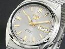 SEIKO 5 セイコー5 逆輸入 日本製 自動巻き メンズ 腕時計 SNXS75J1 グレー×シルバー メタルベルト
