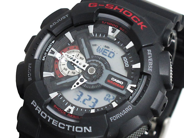 カシオ CASIO Gショック G-SHOCK アナデジ 腕時計 ハイパーカラーズ GA-110-1A メンズ ブラック ラバーベルト