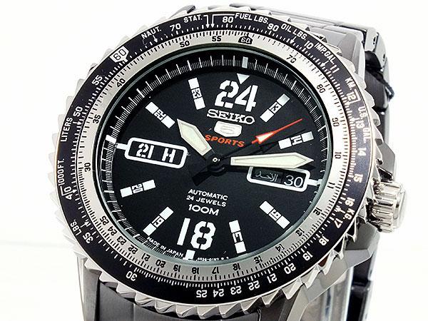 SEIKO 5 SPORTS スポーツ 逆輸入 自動巻き 日本製 メンズ 腕時計 SRP355J1 ブラック メタルベルト 送料無料/SEIKO 5 SPORTS 時計 腕時計 逆輸入