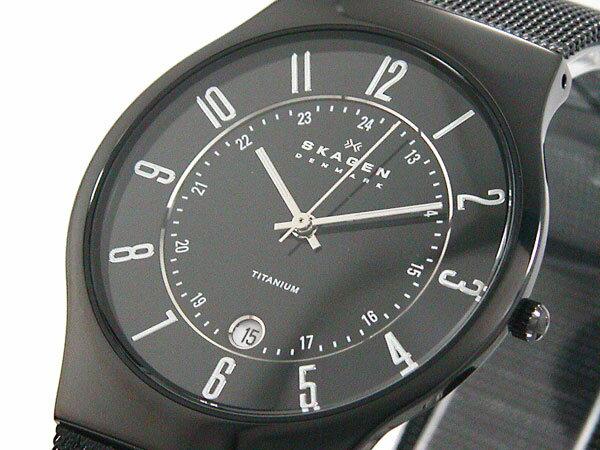 スカーゲン SKAGEN 腕時計 ウルトラスリム チタン 233XLTMB メンズ ブラック メッシュベルト 送料無料/SKAGEN スカーゲン 時計 腕時計 ウォッチ