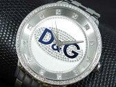 D&G ドルチェ&ガッバーナ 腕時計 ラインストーン プライムタイム DW0133 メンズ シルバー×ブルー メタルベルト