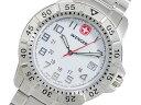 ベルト調整工具無料/送料無料/WENGER ウェンガー 時計 腕時計 ウウェンガー WENGER マウンテイナー クオーツ メンズ スイス製 腕時計 72617 ホワイト×シルバー メタルベルト