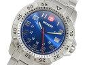 ベルト調整工具無料/送料無料/WENGER ウェンガー 時計 腕時計 ウウェンガー WENGER マウンテイナー クオーツ メンズ スイス製 腕時計 72618 ネイビーブルー×シルバー メタルベルト