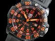 ルミノックス LUMINOX ネイビーシールズ カラーマーク クオーツ メンズ 腕時計 3059 ブラック×オレンジ ラバーベルト