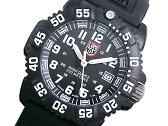 ルミノックス LUMINOX ネイビーシールズ カラーマーク クオーツ レディース 腕時計 7051 ホワイト×ブラック ラバーベルト