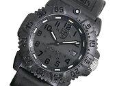 ルミノックス LUMINOX ネイビーシールズ カラーマーク クオーツ メンズ 腕時計 7051BO ブラックアウト ラバーベルト