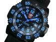 ルミノックス LUMINOX ネイビーシールズ カラーマーク クオーツ メンズ 腕時計 3053 ブルー×ブラック ラバーベルト