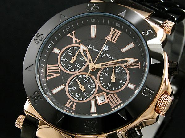 サルバトーレマーラ 腕時計 クロノグラフ メンズ SM7019-PGBK 送料無料/Salvatore Marra 時計 腕時計 ウォッチ
