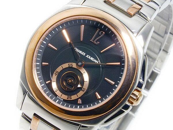 シャルル ジョルダン クオーツ レディース 腕時計 151.26.1 ブラック×ローズゴールド シルバー メタルベルト ブレスレット ベルト調整工具無料/送料無料/ブランド レディース 時計 腕時計