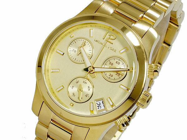 マイケルコース MICHAEL KORS クロノグラフ レディース 腕時計 MK5384 ゴールド メタルベルト ブレスレット ベルト調整工具無料/送料無料/MICHAEL KORS 時計 腕時計 ウォッ