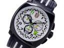 ルミノックス LUMINOX トニーカナーン メンズ クロノグラフ 腕時計 1146 ホワイト×ブラック レザーベルト
