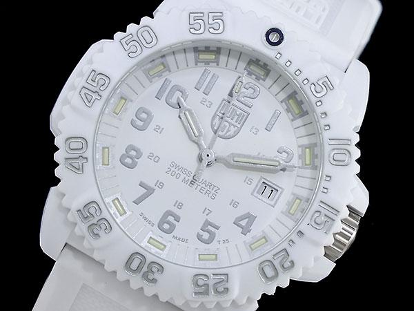 ルミノックス LUMINOX ネイビーシールズ カラーマーク メンズ スイス製 腕時計 3057 ホワイトアウト ラバーベルト 送料無料/LUMINOX ルミノックス 時計 腕時計 ウォッチ
