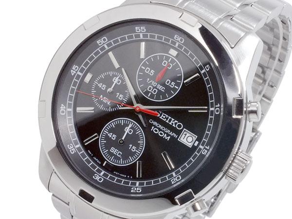 セイコー SEIKO 逆輸入 クロノグラフ メンズ 腕時計 SKS421P ブラック×シルバー メタルベルト ベルト調整工具無料/送料無料/SEIKO 時計 腕時計 逆輸入