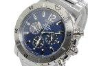 セイコー SEIKO 逆輸入 ソーラー クロノグラフ メンズ 腕時計 SSC221P1 ブルー×シルバー メタルベルト