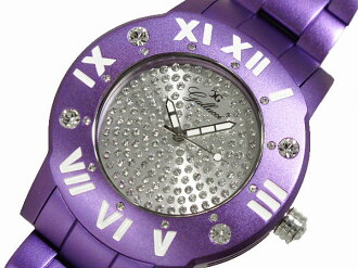 GALLUCCI UNI Gallucci uni stone watch aluminum WT23451QZ-PU Womens mens purple