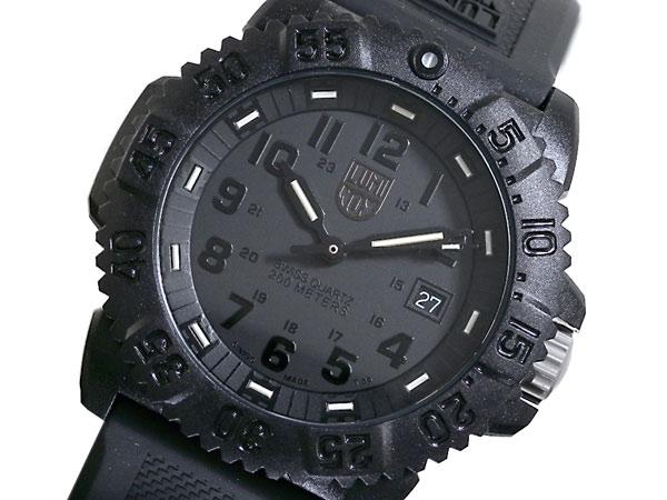 ルミノックス LUMINOX ネイビーシールズ ダイバーズ スイス製 腕時計 3051BO ブラック ラバーベルト 送料無料/LUMINOX ルミノックス 時計 腕時計 ウォッチ