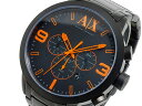 アルマーニ エクスチェンジ ARMANI EXCHANGE クロノグラフ メンズ 腕時計 AX1351 ブラック×オレンジ メタルべルト